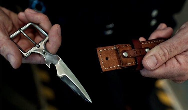 Holding Belt Knife