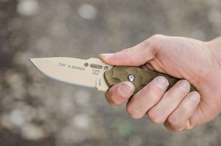 Holding EDC Knife