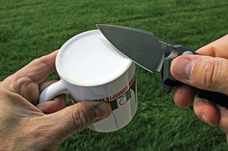 Sharpening Knife On Mug